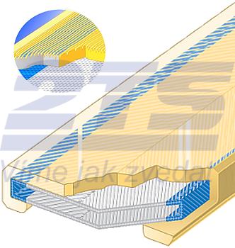 Polyuretanová ochrana jednostranná s broušeným povrchem SF1 šíře 75mm - 1