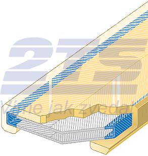 Polyuretanová ochrana jednostranná pro 4vrstvý pás SF1-PCS šíře 240mm