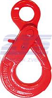 Vyklápěcí bezpečnostní hák s okem BKO průměr 22 mm, třída 8 - 1