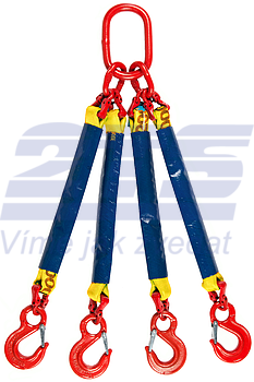 4-hák textilní RS, nosnost RS 3t, délka 3m - 1