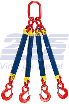 4-hák textilní RS, nosnost 3t, délka 3m - 1