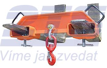 Závěs na vidlice VZV dvojitý s otočným hákem ZV2 OH 3000kg - 1