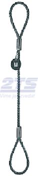 Oko-oko lanové průměr 12mm, déka 1,5 m