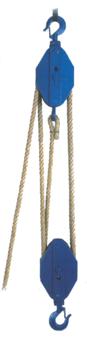 Obecný kladkostroj ruční K11, nosnost 2t,pro textilní lano ( bez lana) - 1