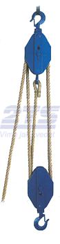 Obecný kladkostroj K11, nosnost 2t,pro textilní lano ( bez lana) - 1