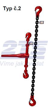 Stahovací řetězová sestava typ č.2 průměr 10 mm, délka 1,5m, třída 8 GAPA - 1