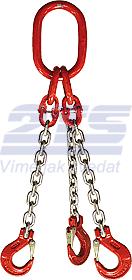 3-hák řetězový průměr 6 mm, délka 4,5 m, třída 8 GAPA