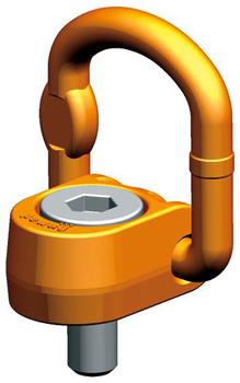 Šroubovací otočný a sklopný bod PLAW M20x60, nosnost 2,5 t, tř.10 - 1