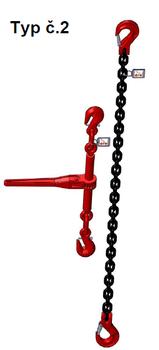 Stahovací řetězová sestava typ č.2 průměr 6 mm, délka 2 m, třída 8 GAPA - 1
