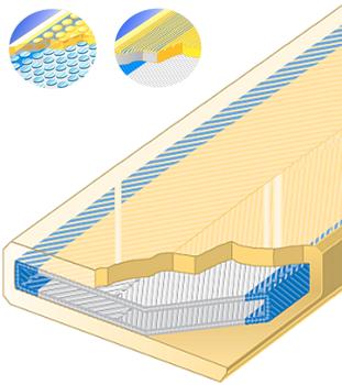 Polyuretanová ochrana oboustranná s kov.výztuhou a broušeným povrchem SF2-AS šíře 300mm - 1