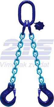 2-hák řetězový průměr 8 mm, délka 3,5 m, třída 10 GAPA