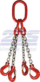 4-hák řetězový průměr 8 mm, délka 1,5 m, třída 8 GAPA