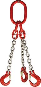 3-hák řetězový průměr 16 mm, délka 4,5 m, třída 8 GAPA