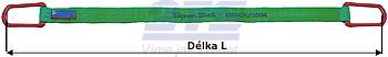 Plochý pas s kovovými oky, ochrana ODĚR/ODĚR, 2t, 6m