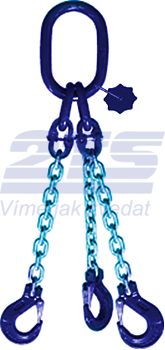 3-hák řetězový průměr 6 mm, délka 6 m, třída 10 GAPA
