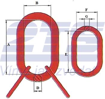 Závěsné oko lanové 45B, nosnost 32,8t GAPA96