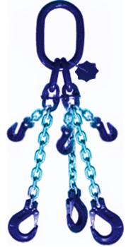 3-hák řetězový průměr 16 mm, délka 3,5 m,zkracovací háky, třída 10 GAPA