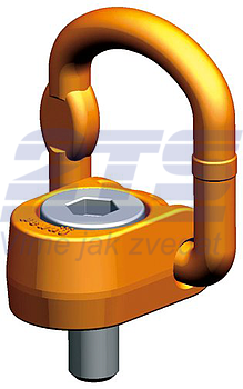 Šroubovací otočný a sklopný bod PLAW M42x65, nosnost 10 t, max.délka - 1