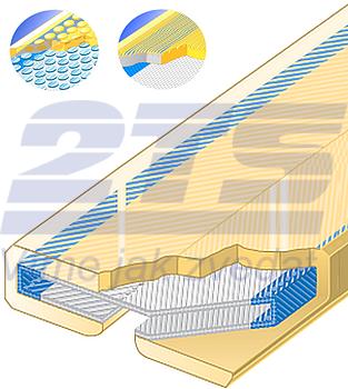 PU ochrana jednostranná Clip-SC s kovovou výztuhou a broušeným povrchem šíře 250m - 1