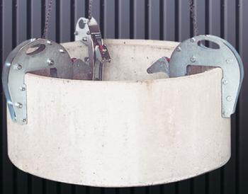 Nosič skruží šachtový 1,5t, 25-185 mm, délka řetězu 1,70m