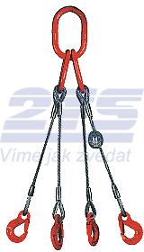4-hák lanový průměr 6mm, délka 3m