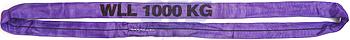 Jeřábová smyčka  RS 1t,2,5m, užitná délka, barva ČERNÁ - 1