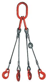 4-hák lanový průměr 6mm, délka 5m