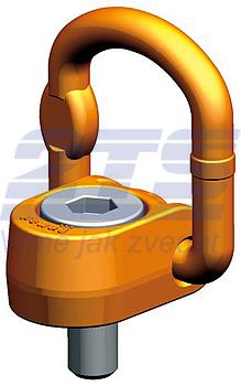 Šroubovací otočný a sklopný bod PLAW M48x73, nosnost 20 t,s čipem NFC - 1