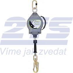 Zatahovací zachycovač pádu, ocel. lano délka 10m, EN360