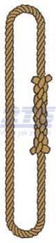 Nekonečné lano konopné průměr 12mm, užitná délka 3m - 1
