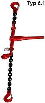 Stahovací řetězová sestava typ č.1 průměr 8 mm, délka 2 m, třída 8 GAPA - 1