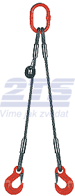 2-hák lanový průměr 12mm, délka 1m