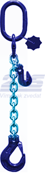 Oko-hák řetězové průměr 8 mm, délka 2,5 m, zkracovací háky, třída 10 GAPA