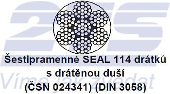 Ocelové lano průměr 16 mm, 6x19 S-IWRC U 1770 sZ