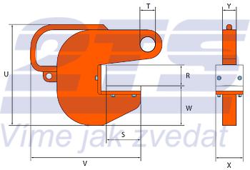 Horizontální svěrka PHW-HD 20 t, 60 mm - 1