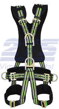 Komfortní bezpečnostní postroj s polohovacím pasem a 2D