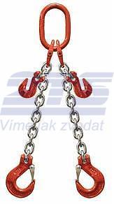 2-hák řetězový průměr 6 mm, délka 6m, zkracovací háky, třída 8 GAPA
