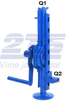 Hřebenový zvedák s přestavitelnou opěrou 15-00, nosnost 5 t - 1