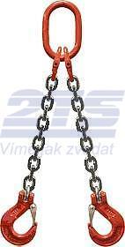 2-hák řetězový průměr 6 mm, délka 2,5 m, třída 8 GAPA
