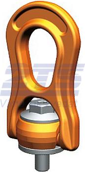 Šroubovací otočný a sklopný bod PLBW M48x73,7, nosnost 15 t, s čipem NFC - 1