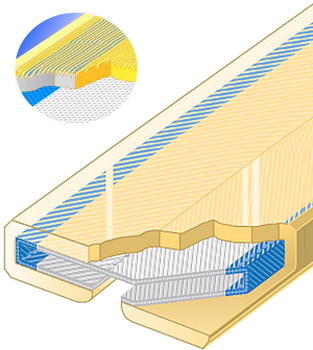 PU ochrana jednostranná pro 4vrstvé ploché pasy Clip-SC s broušeným povrchem 120mm - 1