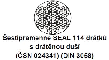 Ocelové lano průměr 22 mm, 6x19 S-IWRC U 1770 sZ