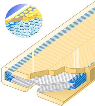 PU ochrana jednostranná pro 4vrstvé ploché pasy Clip-SC s kovovou výztuhou šíře 90mm - 1
