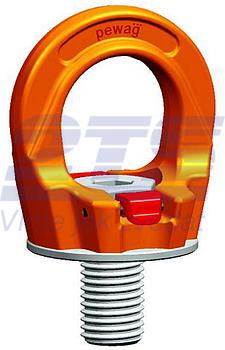 Šroubovací otočný  bod PLGW M30x45, nosnost 4,9 t, basic bez čipu- pro montážní klíč - 1