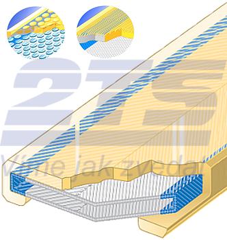 Polyuretanová ochrana jednostranná s broušeným povrchem a kovovou výztuhou SF1 šíře 100mm - 1