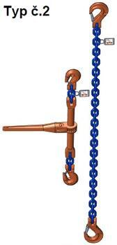 Stahovací řetězová sestava typ č.2 průměr 10 mm, délka 6 m, třída 10 GAPA - 1