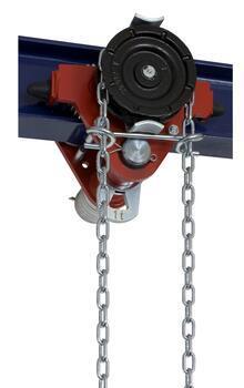 Jednonosníková kočka s ovládacím řetězem Z420, nosnost 7,5 t, délka zdvihu 9 m - 1