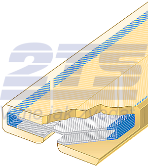 Polyuretanová ochrana jednostranná Clip-SC šíře 250mm