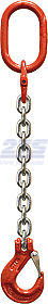 Oko-hák řetězový průměr 8 mm, délka 2,5 m, třída 8 GAPA