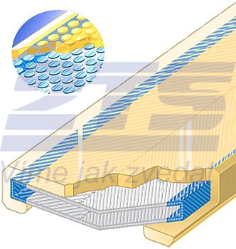 Polyuretanová ochrana jednostranná pro 4vrstvý pás s kovovou výztuhou SF1-PCS šíře 60mm - 1